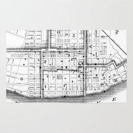 Vintage Map of Cincinnati Ohio (1841) BW Rug