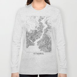 Istanbul White Map Long Sleeve T-shirt