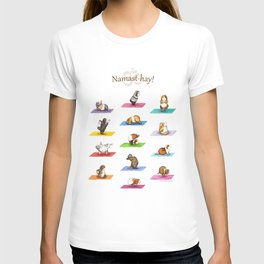 The Yoguineas - Yoga Guinea Pigs - Namast-hay! T-shirt