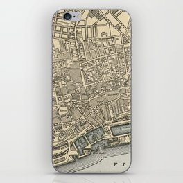 Vintage Map of Dundee Scotland (1901) iPhone Skin