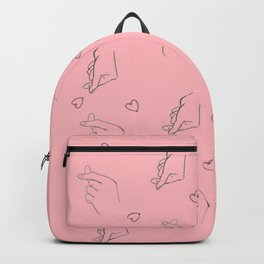 Finger heart pattern Backpack