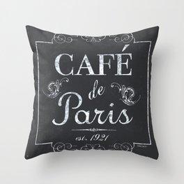 French Bistro 1 Throw Pillow