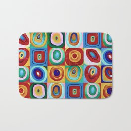 Colorful circles tile Bath Mat
