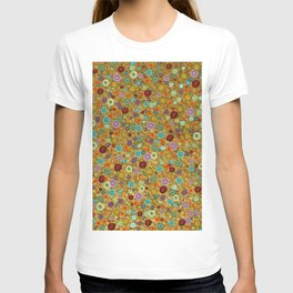 Playful Watercolor dots pattern - Gold T-shirt