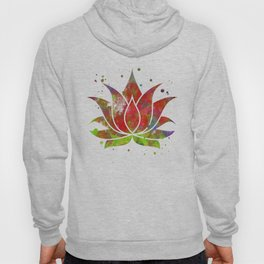 Colorful Lotus Flower Hoody