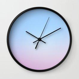 Cotton Blue Gradient Wall Clock