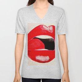 Red Lips #society6 #decor #buyart Unisex V-Neck