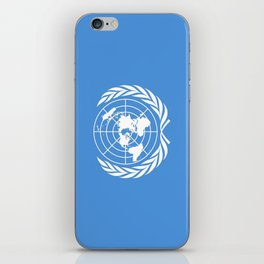 Flag on United nations -Un,World,peace,Unesco,Unicef,human rights,sky,blue,pacific,people,state,onu iPhone Skin