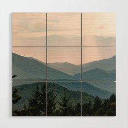 Smoky Mountain Pastel Sunset Wood Wall Art