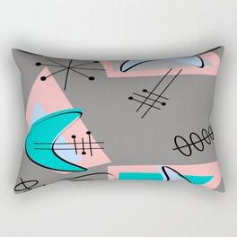 Atomic Era Inspired Boomerangs Rectangular Pillow
