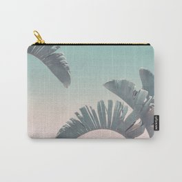 Tropical Palm Leaves In Pastel Light Carry-All Pouch