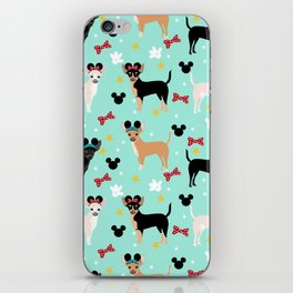 Chihuahua theme park lover dog breed pattern gifts iPhone Skin