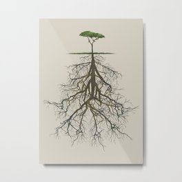 In the deep (tree) Metal Print