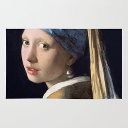 "Johannes Vermeer ""Girl with a Pearl Earring"" Rug"