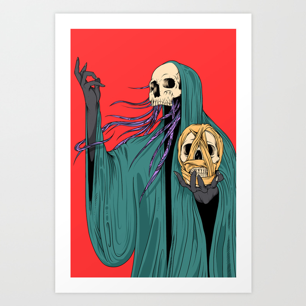 The Witchdoctor Art Print by Softsurrogate PRN7485501