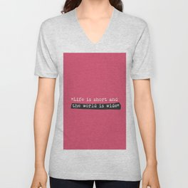 travel quote Unisex V-Neck