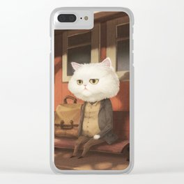A cat waiting for someone Clear iPhone Case