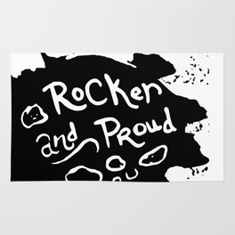 Rocker and Proud by annmariescreations Rug