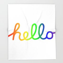 Oh Hello! Coloful Version Throw Blanket