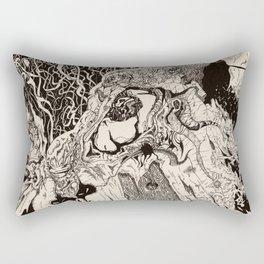 Entanglement (Untitled Face II) Rectangular Pillow