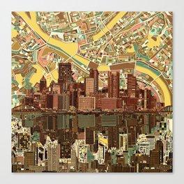 pittsburgh city skyline Canvas Print