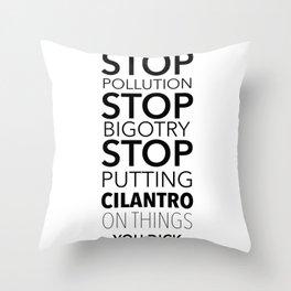 cilantro Throw Pillow