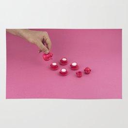 Tiny pink tea party Rug