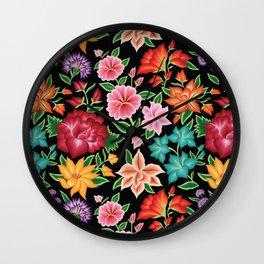Floral Pattern from Oaxaca Wall Clock