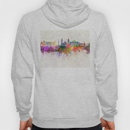Mexico City V2 skyline in watercolor background Hoody