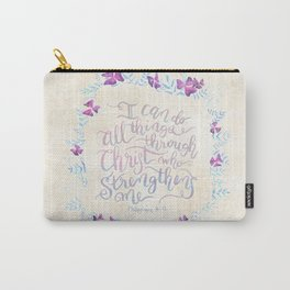 I Can Do All Things - Philippians 4:13 Carry-All Pouch
