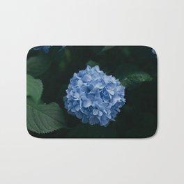 Blue Hydrangea Flower Bath Mat