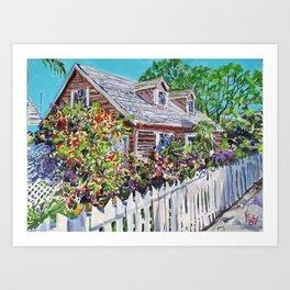 Sandy Lily Cottage Art Print