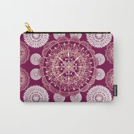 Berry and Bright Patterned Mandalas Carry-All Pouch