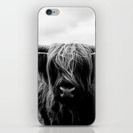 Scottish Highland Cattle Black and White Animal iPhone Skin