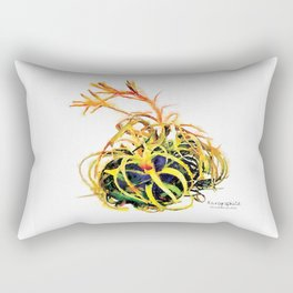 Tillandsia Xerographica Air Plant Watercolor Rectangular Pillow