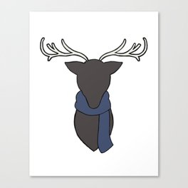Sherlock Stag head Canvas Print
