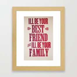 Dr. Quinn Medicine Woman Letterpress Print - Best Friend & Family Framed Art Print
