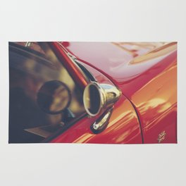Red supercar photography, Triumph spitfire, original english car, classic sports auto Rug