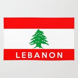 Lebanon country flag name text Rug