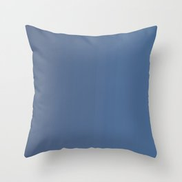 Dark Blue Gradient Throw Pillow