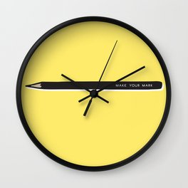 Make your mark pencil Wall Clock