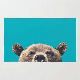 Bear - Blue Rug