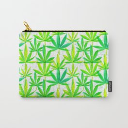 Watercolor Marijuana Leaf Carry-All Pouch
