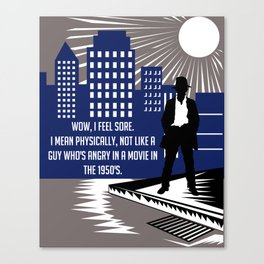Kiss Kiss Bang Bang - Wow I Feel Sore Art Print Wall Decor Typography Inspirational Poster Motivatio Canvas Print
