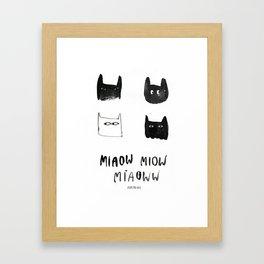 miaow Framed Art Print