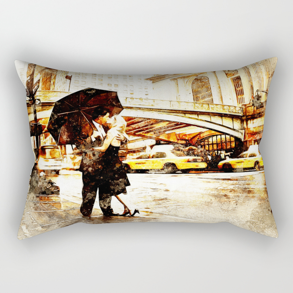 Love In The Rain (loving The Rain) Rectangular Pillow RPW8597572