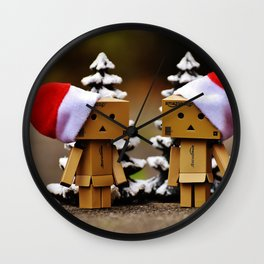 father and mother chrismass Wall Clock