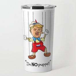 Funny Donald Trump Pinocchio I'm No Puppet Travel Mug
