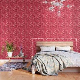 White Objects Christmas Pattern Wallpaper