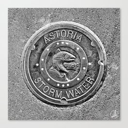 Astoria Storm Water, Monotone Canvas Print
